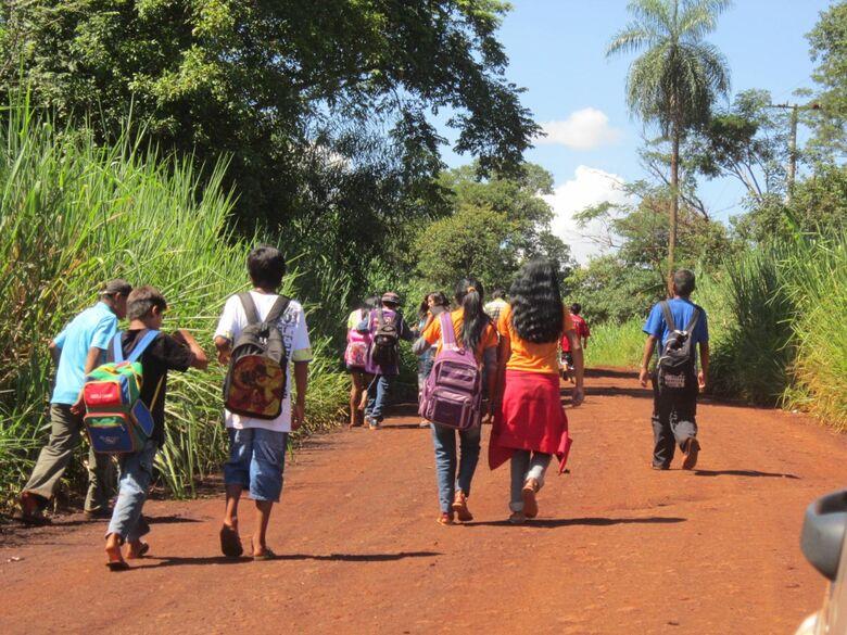 Sem internet, evasão escolar nas aldeias de Dourados pode passar de 40% - Crédito: Eliel Oliveira/arquivo