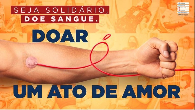 Ministério da Saúde lança nova campanha de doação de sangue 2020 - Crédito: Reprodução/MS