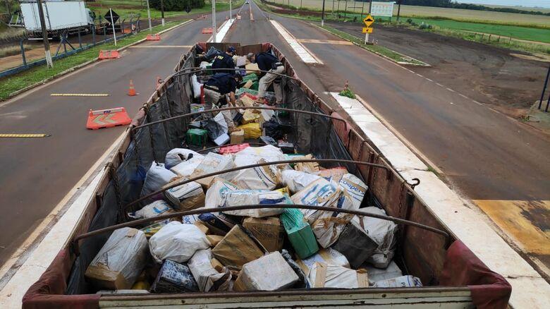 Caminhão com 11 toneladas de maconha é apreendido em Ponta Porã - Crédito: Adilson Domingos