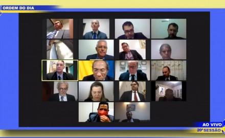 Geraldo Resende e Renato Câmara participam da sessão ordinária desta segunda-feira, 29 - Crédito: Reprodução/Youtube