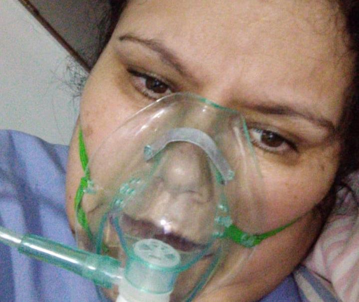 Selma durante tratamento no hospital - Crédito: DIV