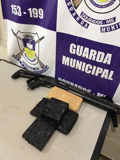 Guarda Municipal apreende cocaína na rodoviária - Crédito: Divulgação