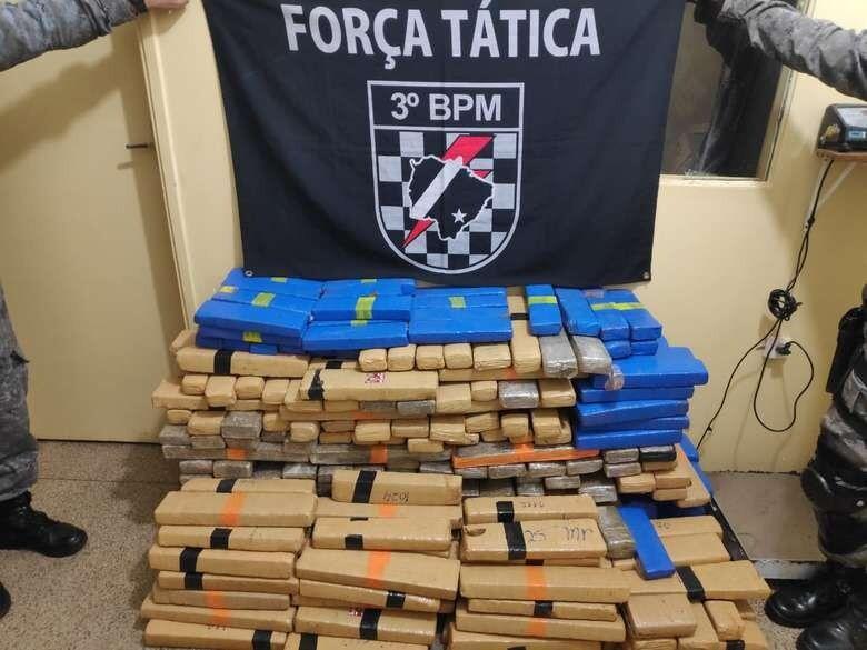 Polícia Militar apreende quase 6 toneladas de drogas na região de Dourados - Crédito: Divulgação