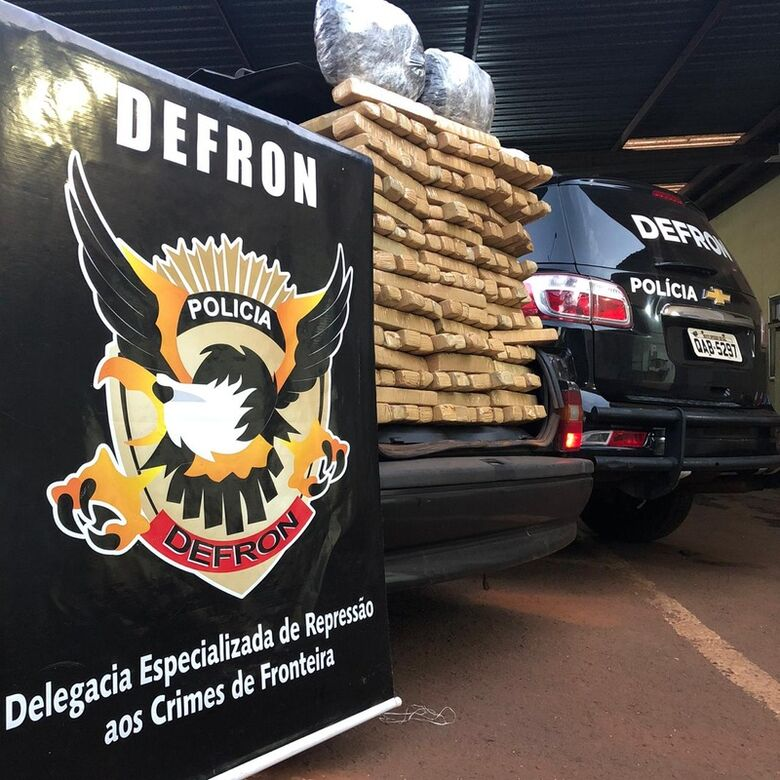 Defron apreende 141 kg de droga em rodovia de MS - Crédito: Divulgação