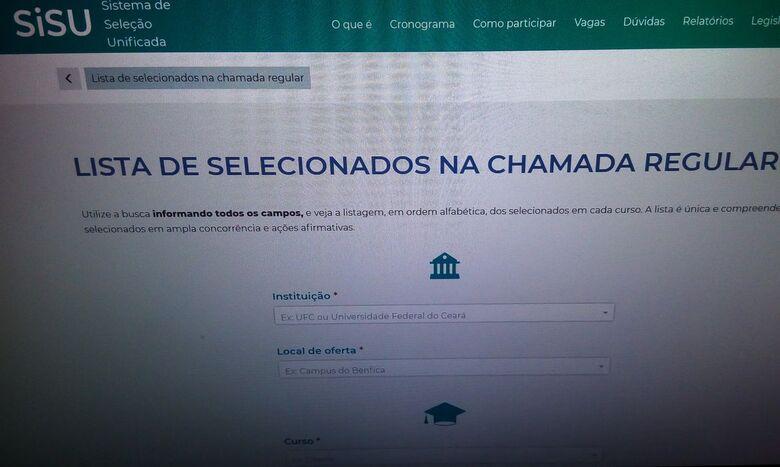 Matrícula dos aprovados na primeira chamada do Sisu começa hoje - Crédito: Agência Brasil