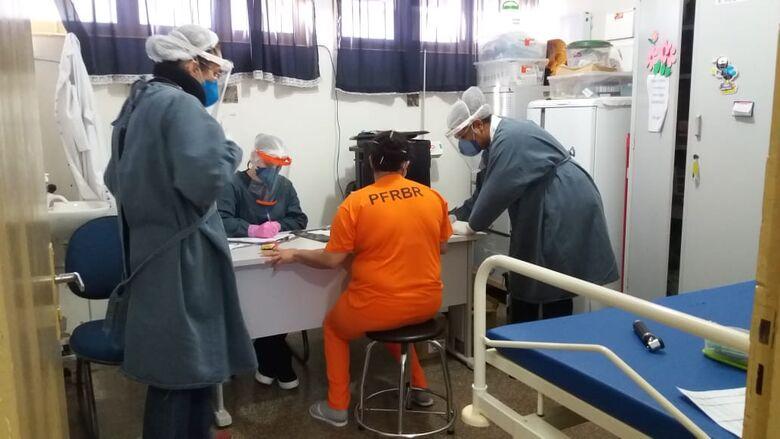 Para prevenir contágio, internas do presídio de Rio Brilhante passam por testagem de Covid-19 - Crédito: Assessoria Agepen