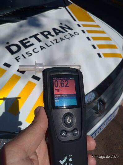 Motorista é preso por dirigir bêbado dentro do Detran - Crédito: Detran/Divulgação