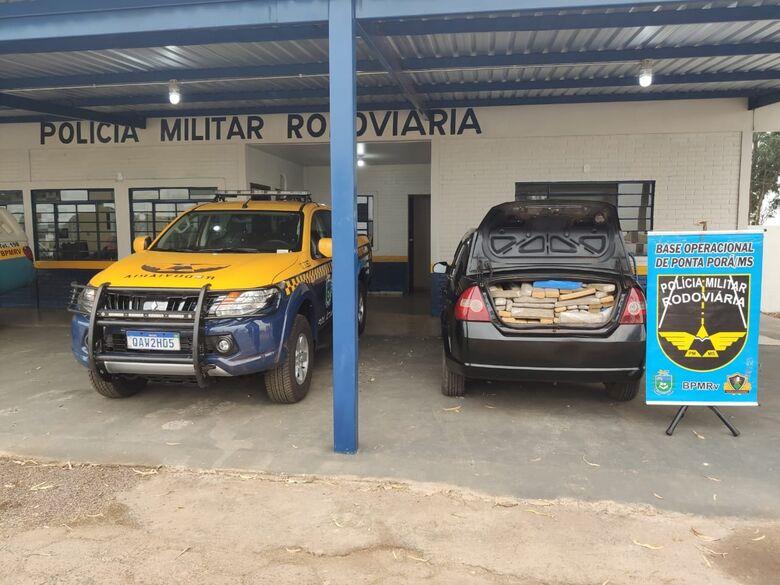 Polícia apreende maconha e munições com traficante que retornava da fronteira - Crédito: Divulgação