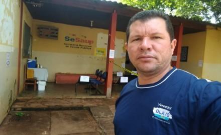Olavo Sul vai acionar MP por conta de reforma no posto da saúde Vila São Pedro - Crédito: Assessoria