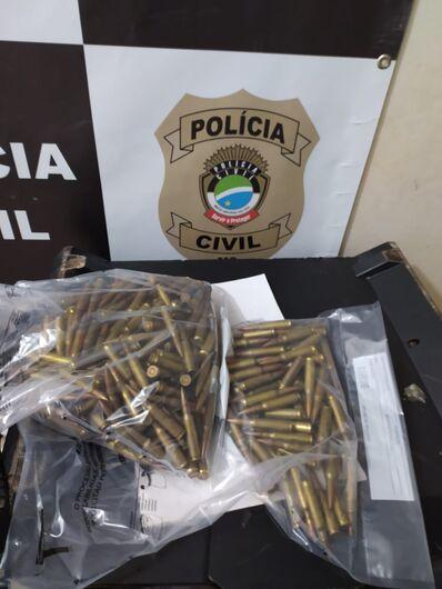 Polícia flagra trio com munições e drogas em Dourados - Crédito: Divulgação