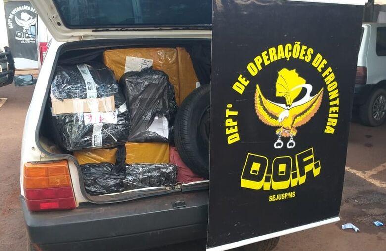 Dois veículos com mercadorias ilegais são apreendidos pelo DOF na MS-156 - Crédito: Divulgação