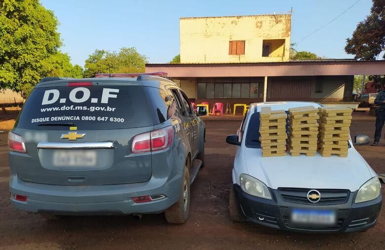Veículo que seguia para o Paraná com quase 100 quilos de maconha foi apreendido pelo DOF -