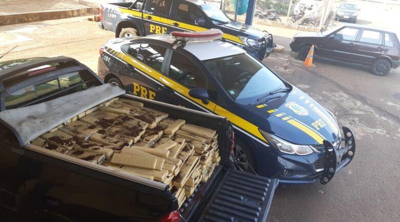 PRF apreende 645 Kg de maconha em Rio Brilhante - Crédito: Divulgação/PRF