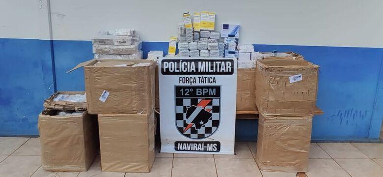 Polícia Militar apreende medicamentos contrabandeados -