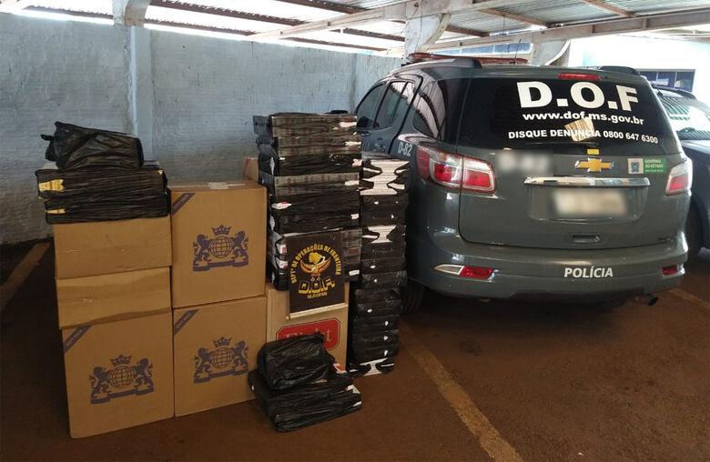 DOF apreende mais de 900 pacotes de cigarro contrabandeado -
