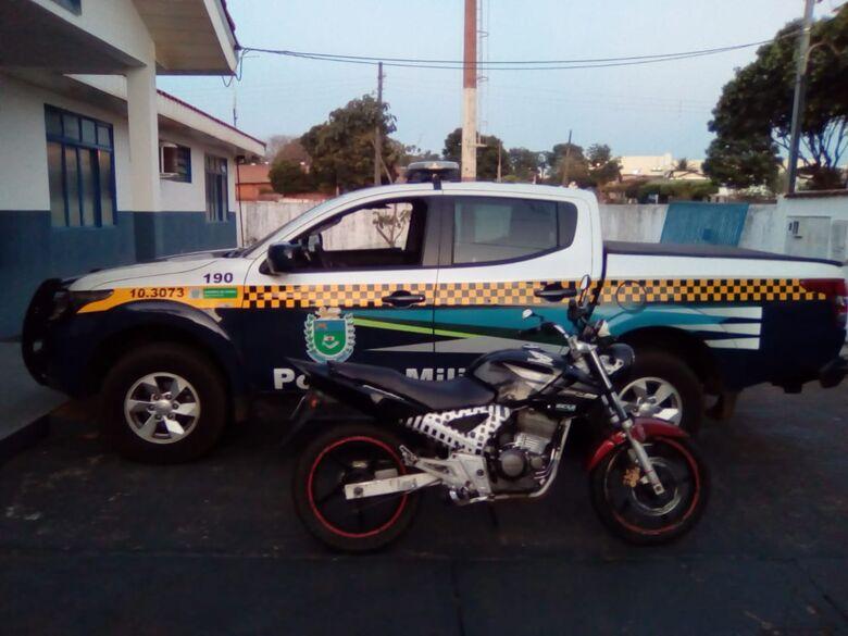 Polícia Militar apreende motocicleta adulterada -