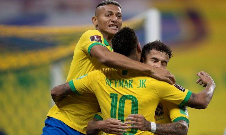 Seleção estreia nas Eliminatórias com goleada de 5 a 0 sobre a Bolívia - Crédito: Lucas Figueiredo/CBF