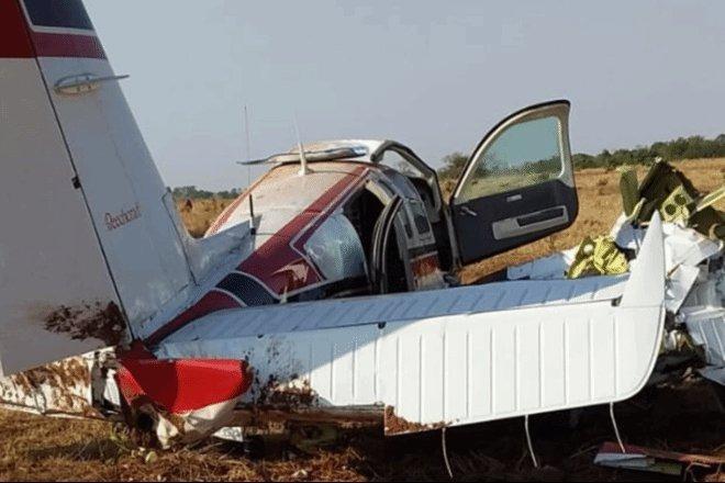 Avião pilotado por médico cai em fazenda de MS - Crédito: Divulgação