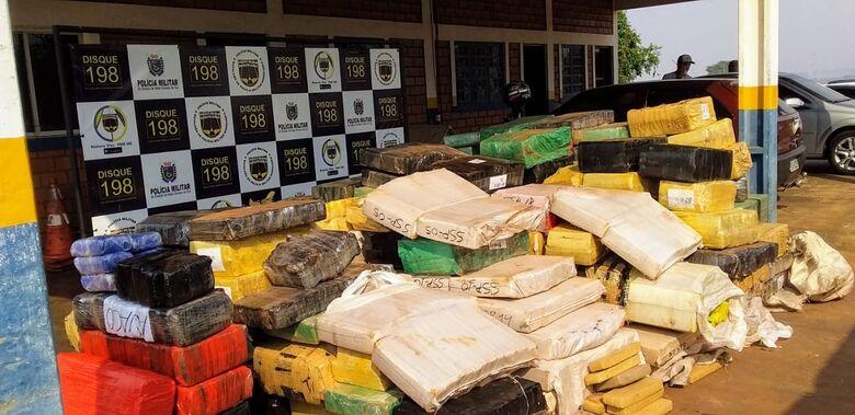 Polícia apreende mais de 4 toneladas de drogas em Dourados - Crédito: Cido Costa