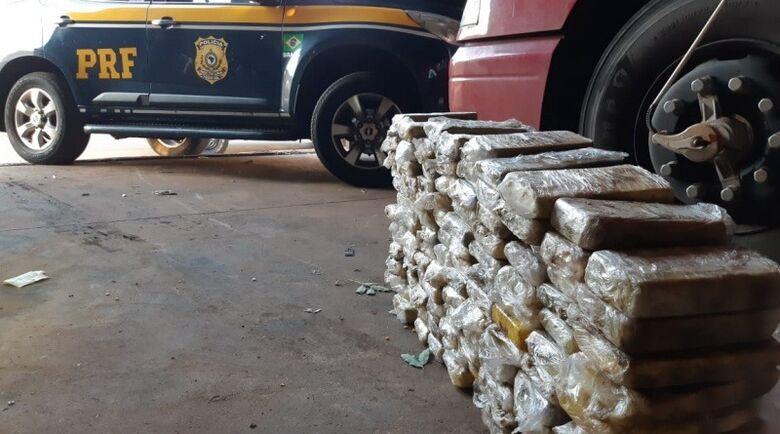 Quase 130 kg de cocaína é apreendido pela PRF em Bataguassu - Crédito: Divulgação