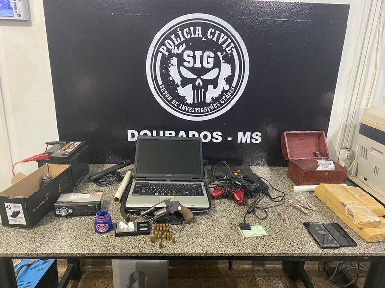 Polícia Civil fecha duas bocas de fumo em Dourados - Crédito: Divulgação