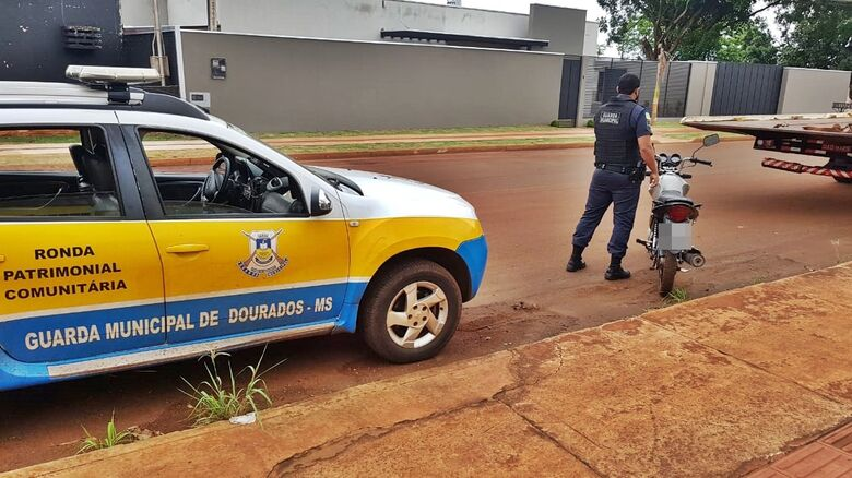 GM faz apreensão histórica ao apreender moto com R$ 400 mil em multas - Crédito: Divulgação
