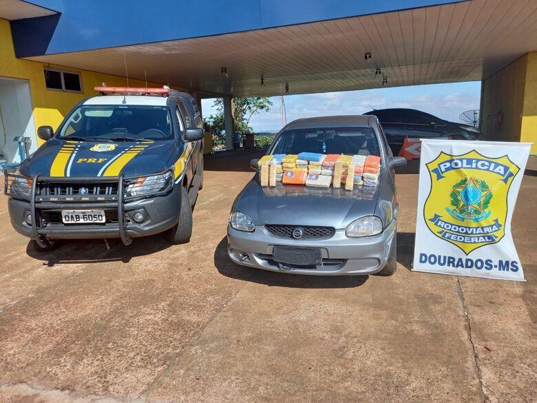 Douradense é preso com 52kg de cocaína - Crédito: Divulgação/PRF