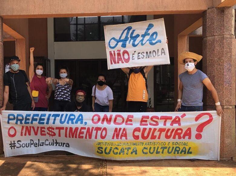"""Protesto surte efeito e artistas recebem pagamento do projeto """"Cultura para Todos"""" - Crédito: Divulgação"""