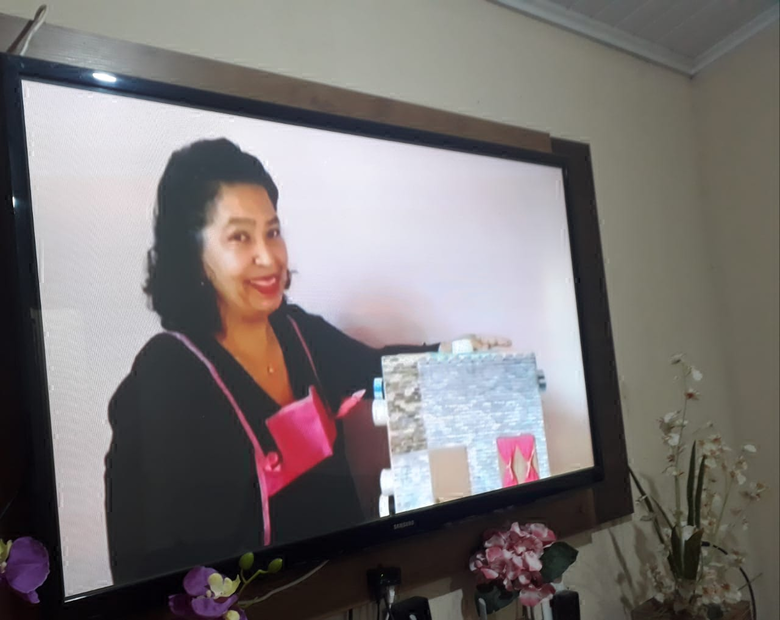Professora conta histórias on-line para as crianças - Crédito: Divulgação