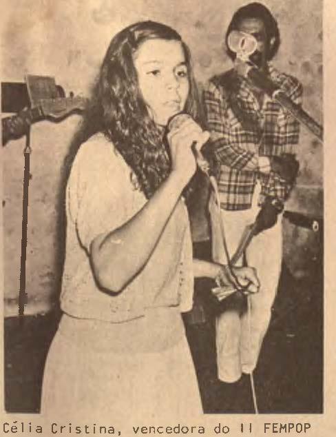 Célia Cristina venceu o 2º Fempop em 1979 - Crédito: O Progresso