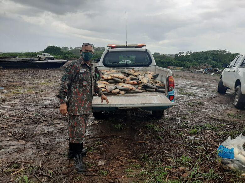 PMA de Corumbá prende e autua em R$ 35 mil cinco pescadores utilizando petrechos ilegais -