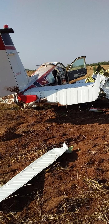 Aeronave pilotada por médico e que caiu em fazenda tinha 'buraco no motor': 'Ele nasceu de novo', diz perito - Crédito: Redes Sociais/Divulgação