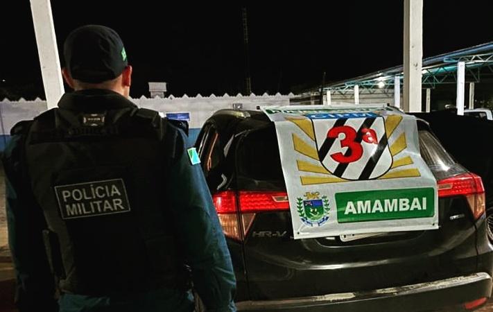 Polícia Militar recupera veículo e prende homem por receptação em Amambai -