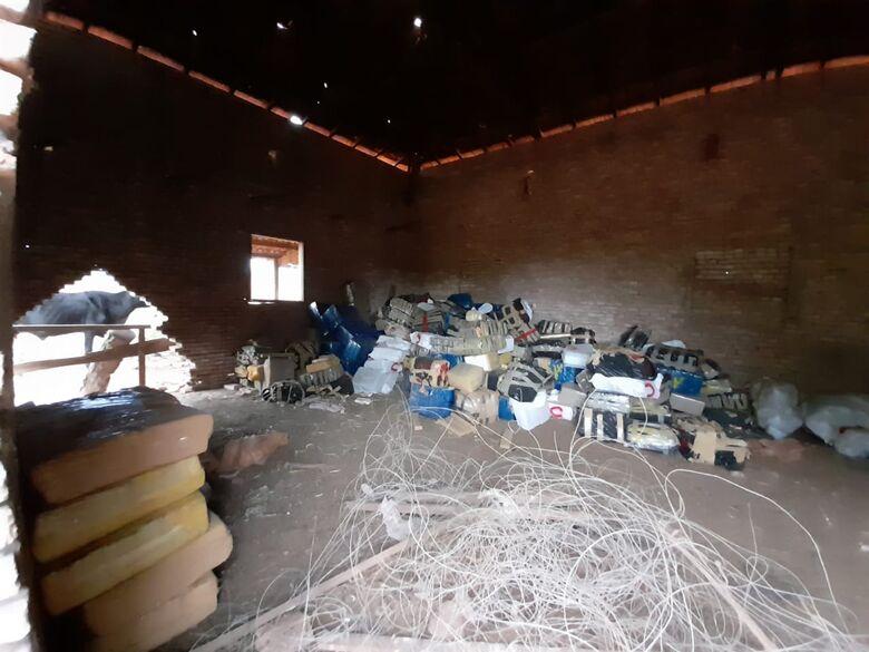 Mais de 9 toneladas de maconha é apreendida em Aparecida do Taboado -