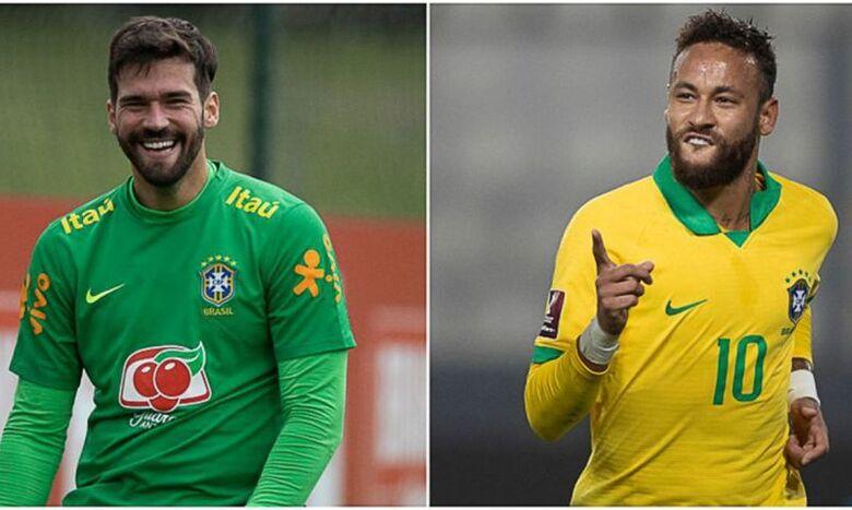 Neymar e Alisson são finalistas do prêmio Fifa The Best - Crédito: Lucas Figueiredo/CBF