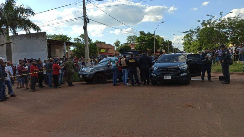 Homem foi morto com vários tiros de fuzil de pistola, em Pedro Juan Caballero, Paraguai. - Crédito: Pedrojuaninos Online/Foto
