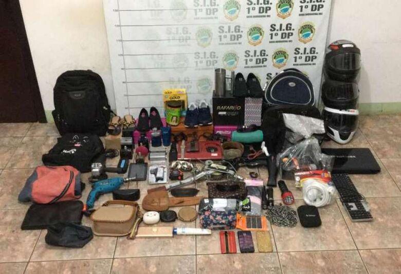 Vários objetos foram recuperados pela polícia - Crédito: foto: divulgação/PC