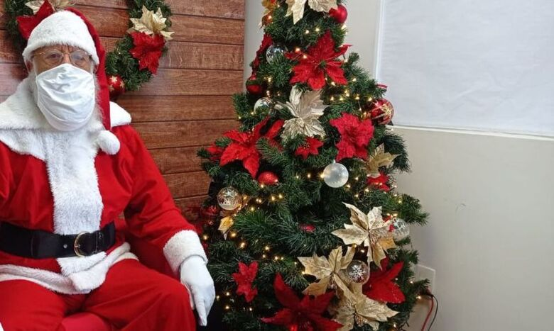 Em tempos de pandemia, o Papai Noel é virtual - Crédito: Jessica Menkel/Divulgação Shopping Riosul