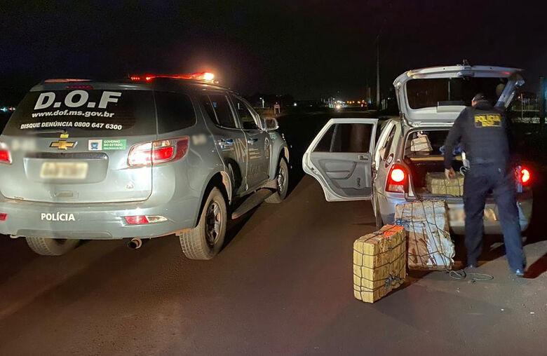Veículo com mais de 300 kg de maconha é apreendido pelo DOF - Crédito: Divulgação