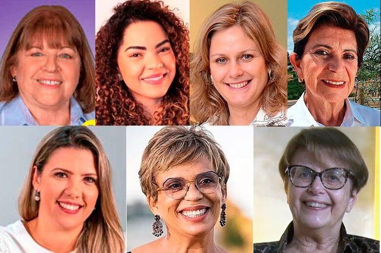 As prefeitas eleitas em 2º turno (da esq. para a dir.): em cima, Raquel Chini, Praia Grande (SP), Suéllen Rosin, Bauru (SP), Paula Mascarenhas, Pelotas (RS), e Professora Elizabeth, Ponta Grossa (PR); abaixo, Elisa Araújo, Uberaba (MG), Marília Campos, Co - Crédito: Agência Senado