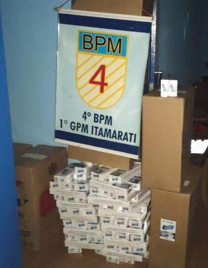 PM apreende cigarros contrabandeados -