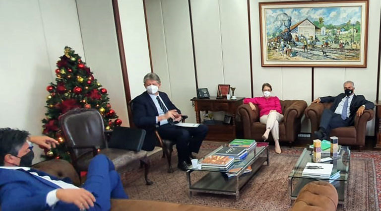 Governador também teve reunião com a ministra Tereza Cristina - Crédito: Foto: Divulgação/Portal MS