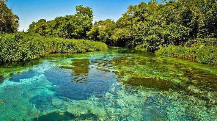Região de bonito é conhecida pelas águas cristalinas