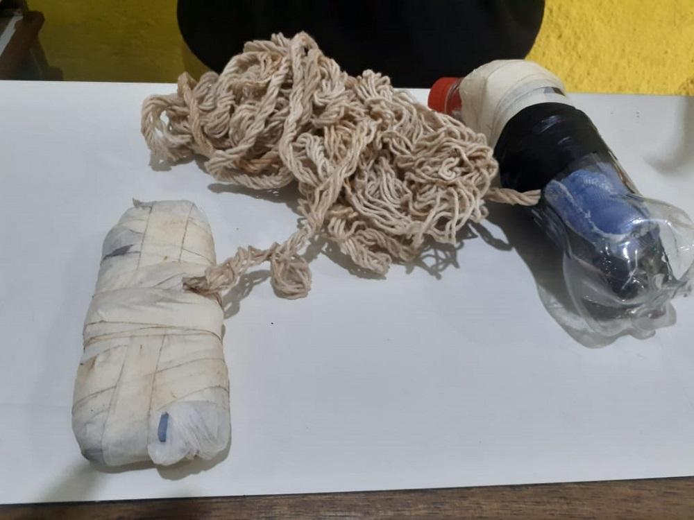 Produtos apreendidos na penitenciária de Rio Brilhante