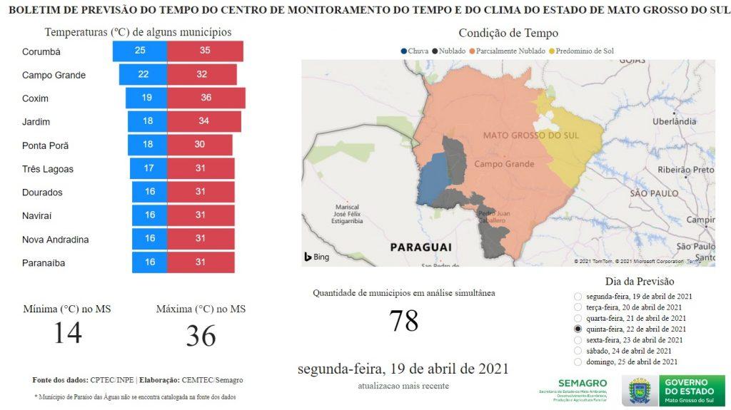 Massa de ar frio pode mudar o clima em Mato Grosso do Sul nos próximos dias