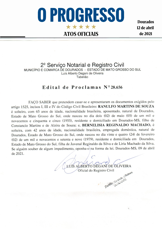 Edital de Proclamas