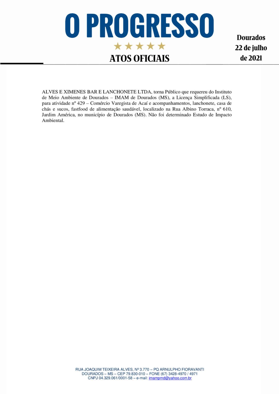 Edital de Licença Ambiental